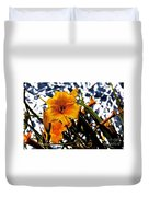 Day Lilies In  Space Duvet Cover