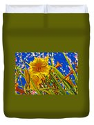 Day Lilies In The Sky With Diamonds  Duvet Cover