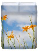 Day Lilies Look To The Sky Duvet Cover