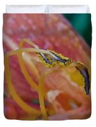 Day Lilly Stamens 1a Duvet Cover