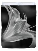 Day Lily 2 Bw Duvet Cover
