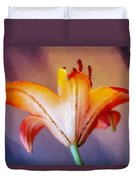 Day Lily Back Duvet Cover