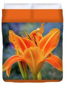 Day Lily Bright Duvet Cover