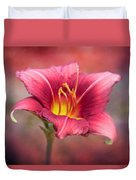 Day Lily Deep Duvet Cover