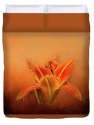 Day Lily Emerging Duvet Cover
