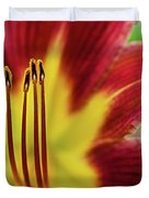 Day Lily Macro Duvet Cover