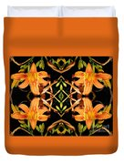 Day Lily Square Dance Duvet Cover