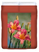 Day Lily Twins Duvet Cover