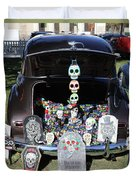 Day Of The Dead Classic Car Trunk Display  Duvet Cover