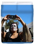 Day Of The Dead Iphone Woman Duvet Cover