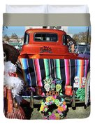 Day Of The Dead Truck Decorations  Duvet Cover