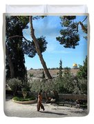 Day Walk In Jerusalem Duvet Cover