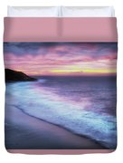Daybreak At Caswell Bay Duvet Cover
