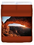 Daybreak At Mesa Arch Duvet Cover