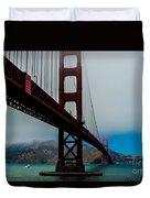 Daybreak At The Golden Gate Duvet Cover