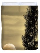 Daybreak On A Country Road Duvet Cover