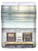 Daydreaming By The Sea In Watercolors Duvet Cover