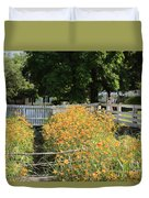 Daylilies In The Spring Duvet Cover