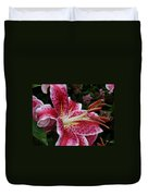 Daylily Dance Duvet Cover