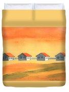 Days Cottages Duvet Cover