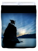 Day's End At Siwash Rock Duvet Cover