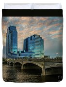 Days End In Grand Rapids Duvet Cover