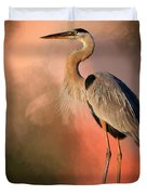 Day's Fiery End Duvet Cover