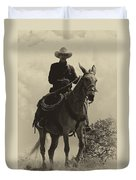 Days Of Old Miss Aleto And The Cowboy Duvet Cover
