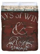Days Of Wine And Roses Duvet Cover