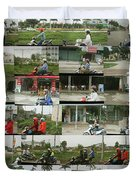Daytime Scooters, Hanoi Duvet Cover