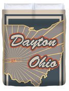 Dayton Ohio Duvet Cover