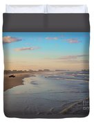 Daytona Beach At Sunset, Florida Duvet Cover
