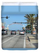 Daytona Beach Duvet Cover