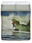 Daytona Beach Surfing Day Duvet Cover