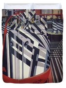 Dazzle Ships In Drydock At Liverpool Duvet Cover