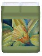 Dazzling Daffodil Duvet Cover