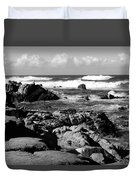 Dazzling Monterey Bay B And W Duvet Cover