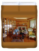 Db6362 Ed Cooper With Fred Beckey In Library 2013 Duvet Cover