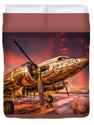 Dc-3 In Surreal Evening Light Duvet Cover