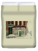 De Bullion Street In  Winter Montreal Duvet Cover