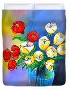 De Rosas Y Azucenas Duvet Cover