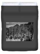 Dead Lakes Cypress Stumps Bw  Duvet Cover