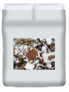 Dead Leaves In The Snow Duvet Cover