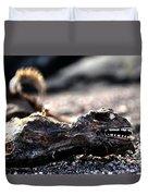 Dead Marine Iguana Duvet Cover