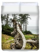 Dead Tree At Ecola Park Duvet Cover