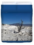 Dead Tree In Yellowstone Park Hot Springs  Duvet Cover