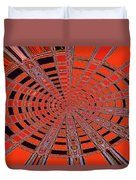 Dead Tree Oval #1 Abstract Duvet Cover
