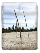 Dead Trees, Yellowstone Duvet Cover