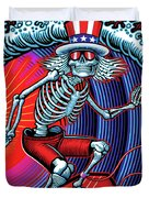 Deadhead Surfer Duvet Cover