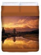Deadwood River Sunrise Duvet Cover
